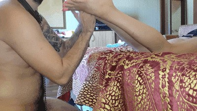 GODDESS ANDOVA FEET MASSAGE
