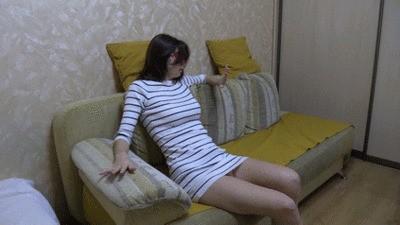 Turning toilet slave into toilet slut