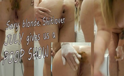 Hot Nurse July is doing a kinky PoopShow