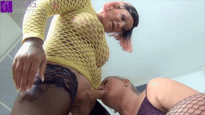 Shemale inseminated my cunt and fucked me hard!