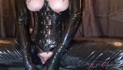 Slave Slut-Orgasma Celeste making a mess pissing throating puking swallowing