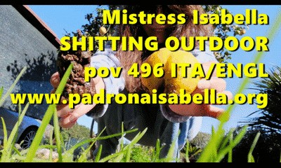 Pov 496 POO OUTDOOR By Mistress Isabella