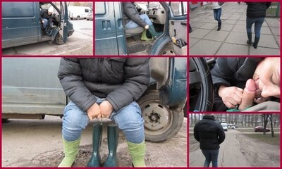 walking in rubber boots with urine