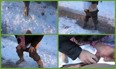 urine in winter