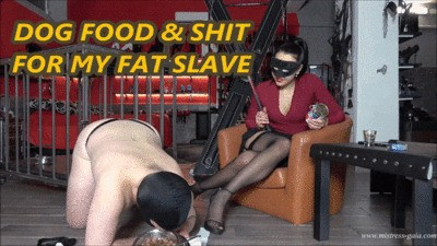 MISTRESS GAIA - DOG FOOD &  SHIT FOR MY FAT SLAVE - mobile version