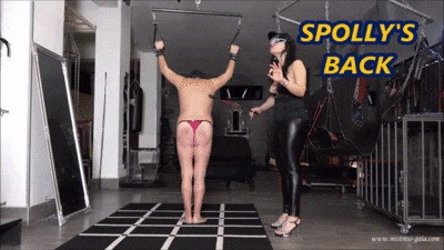 MISTRESS GAIA - SPOLLY'S BACK - Part 1- ARRIVAL & WHIPPING - HD