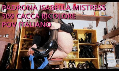 509 BICOLOR SHIT SUPER VIDEOCALL by Mistress Isabella