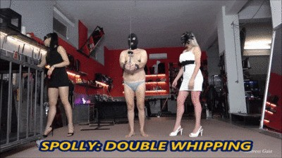 MISTRESS GAIA - SPOLLY DOUBLE WHIPPING - HD