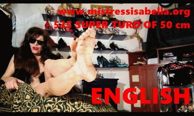 535 in ENGLISH: MASTERPIECE TURD OF 50 cm By Mistress Isabella