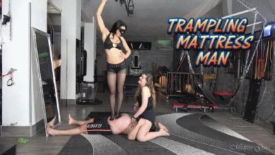 MISTRESS GAIA - TRAMPLING MATTRESS MAN - HD