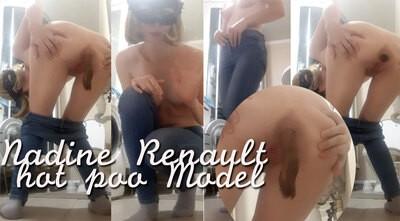 Cecile pooping in Paris...
