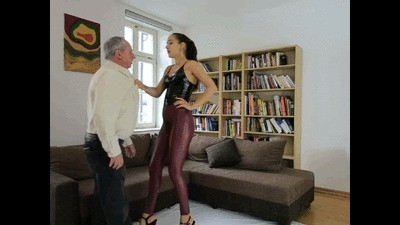 Femdom Goddess Miss Mortelle humiliates E-bay buyer with scat and piss