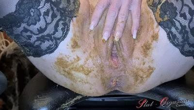 Slave Slut-Orgasma Celeste extreme scat play swallowing and throat fuck