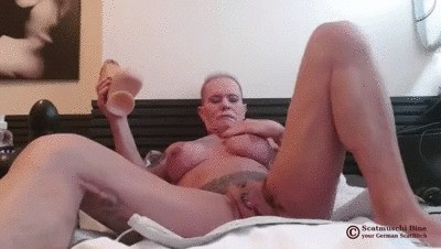 I Play with Scat from my giant Dildo