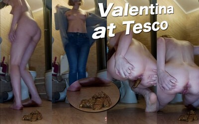 Sexy Valentina from Tesco Pooping!!