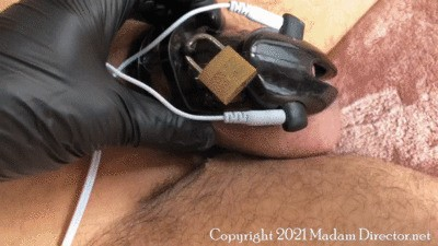 Mike SmileZ and Lola - Locked in Electro Chastity and Pounded as Punishment (1080 HD)