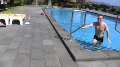 Rachel pee at the pool Remasterd