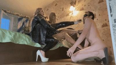 Domina Evgenia, Mistress Sandra - humiliation in the hotel 1
