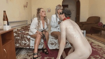 Domina Evgenia, Mistress Sandra - humiliation in the hotel 5