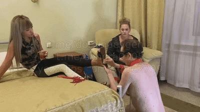 Domina Evgenia, Mistress Sandra - our slave 3