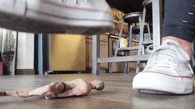 Crushed beneath Converse