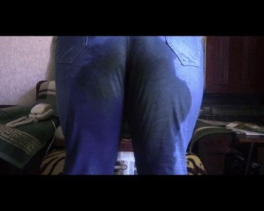 Wet And Messy Jeans