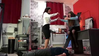 Lady Scarlet - Femdom school: Maya learns trampling