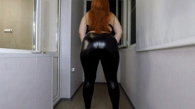 Pooping My Tight Leather Leggings