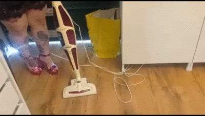 Sexy vacuuming