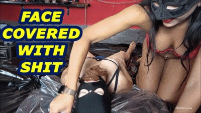 MISTRESS GAIA - FACE COVERED WITH SHIT - mobile version