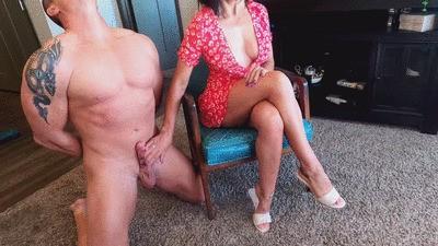 Jerking off my slave