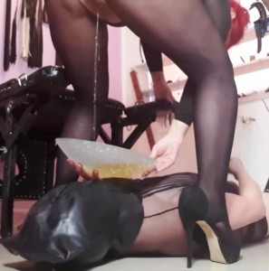 Piss humiliation and facesitting with my whore