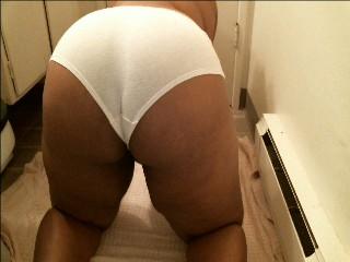 Ebony BBW Panty Poop