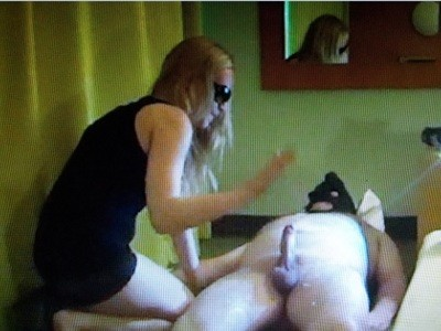 Beauiful Blond Lady Is Slapping Cock And Balls