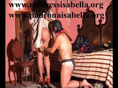 112.2 Changing dress Mistress Isabella