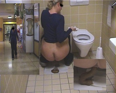 Womans Toilet at department store..