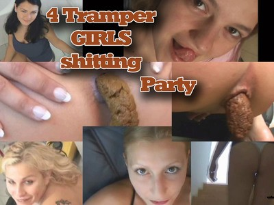 4 Trampergirls shitting adventures