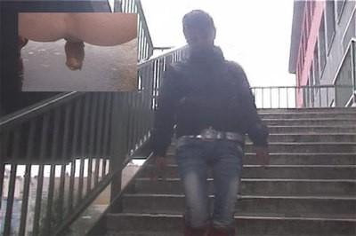 Public stairs shitting..