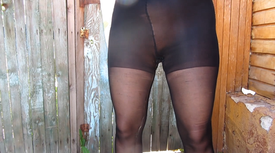 Girl Pissing And Shit In Pantyhose.