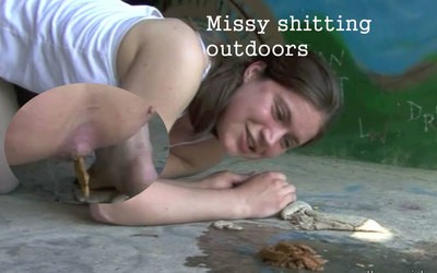 Missys outdoor shitting!