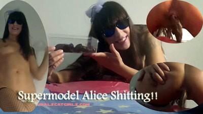 Supermodel Alice shitting!!