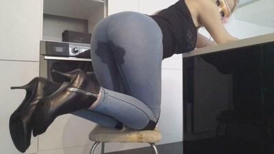 BlondeJeansLegginsPoop