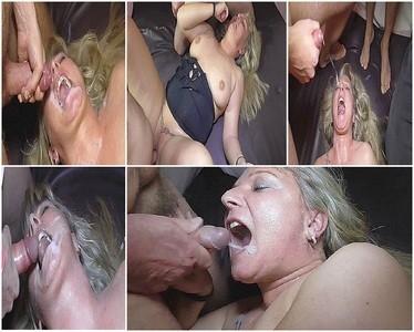Extreme Bukkake! 6 fierce sperm shower for me!