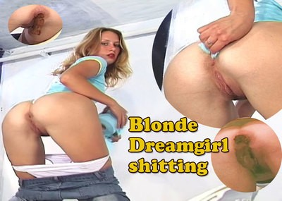 Blonde Dreamgirl shitting