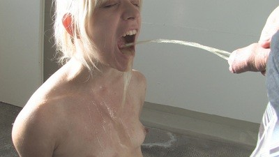 pee on cleaning slave
