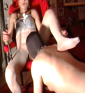 Licking My Mistress Before Beeing Fucked With Toys