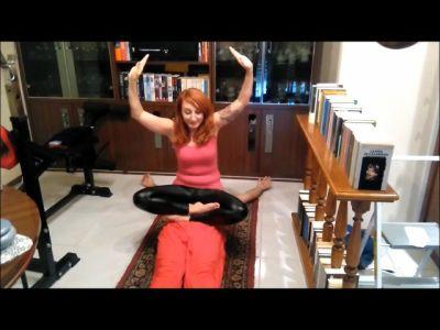 Doing Yoga Training On Fakir's Stomach (mp4)