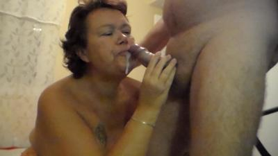 She Lets Him Fill Her Mouth With His Cum