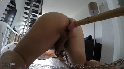 Trained the balls and the asshole of the slave