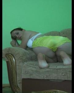 Yellow Satin Panties
